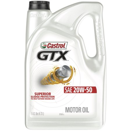(6 Pack) Castrol GTX 20W-50 Conventional Motor Oil, 5
