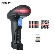 Aibecy Handheld 2.4G Wireless 1D/2D/QR Barcode Scanner Bar Code Reader with USB Receiver 4000 Code Storage Capacity for POS PC Android IOS