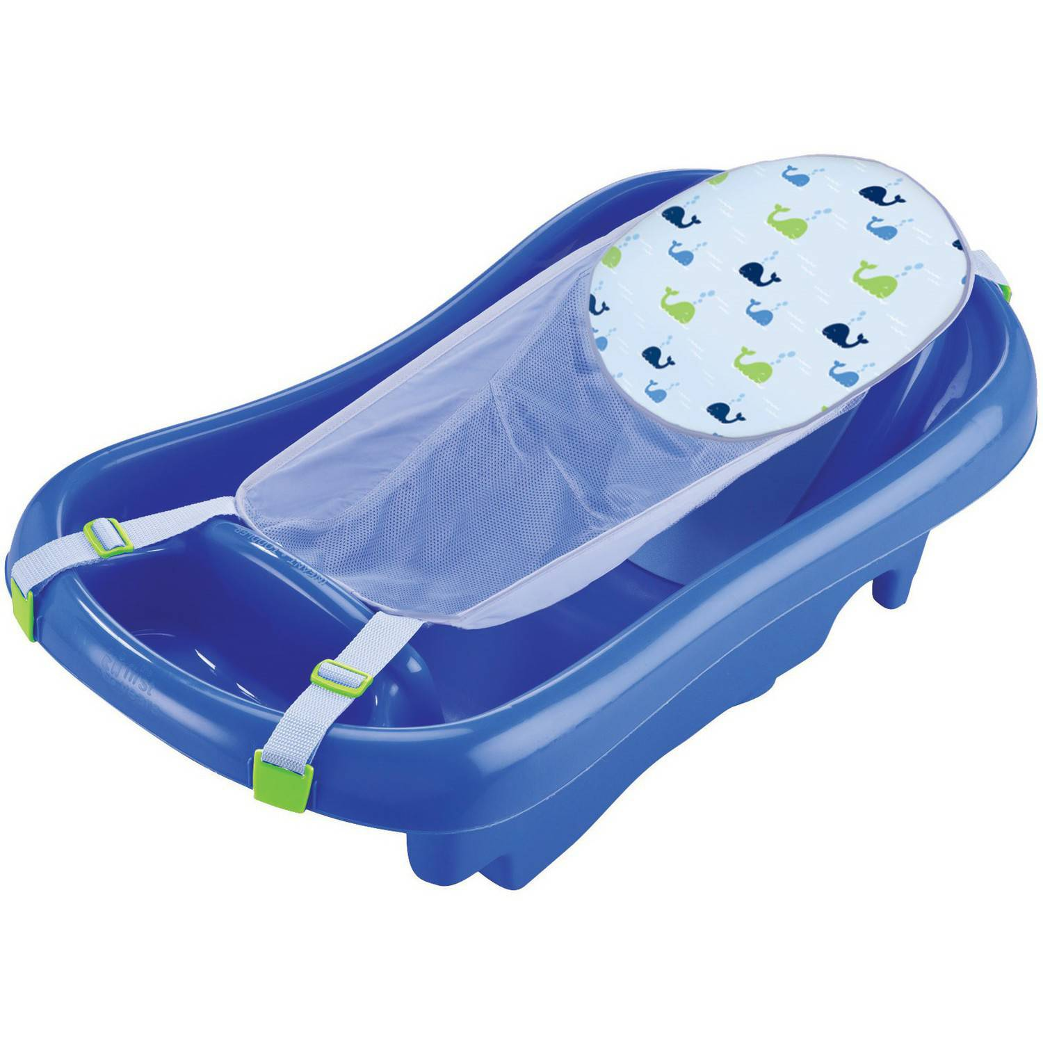 The First Years Sure Comfort Deluxe Newborn to Toddler Tub with Sling, Blue