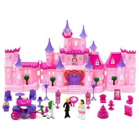 (Castle Light Up and Music Playset Princess Witchery Playset Doll House Childrens Doll House Castle)