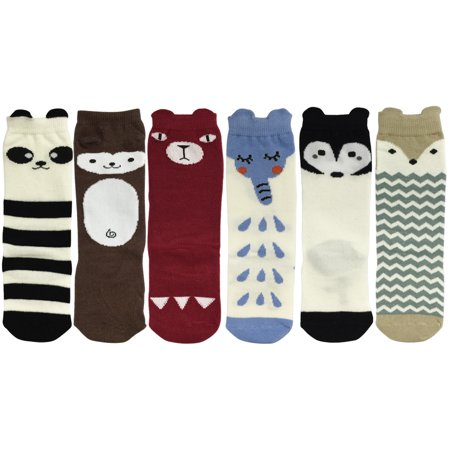 Wrapables® My Best Buddy Socks for Baby (Set of 6), Forest Friends