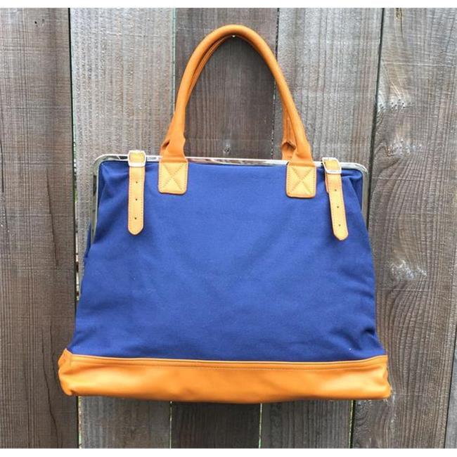 Mason Bag, Blue & Toupe - image 1 of 1