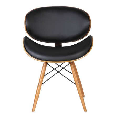Armen Living Cassie Dining Chair in Walnut and Black ...