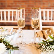 Cathys Concepts Hubby & Wifey Champagne Flutes by Overstock