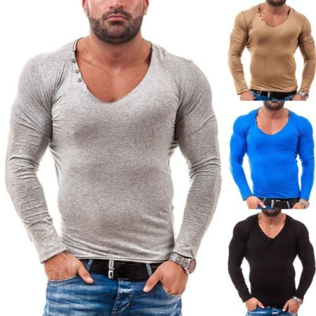 Men Compression T Shirt Base Layer Tight Thermal Sport Long Sleeve Training Gore Ws Thermal Tight