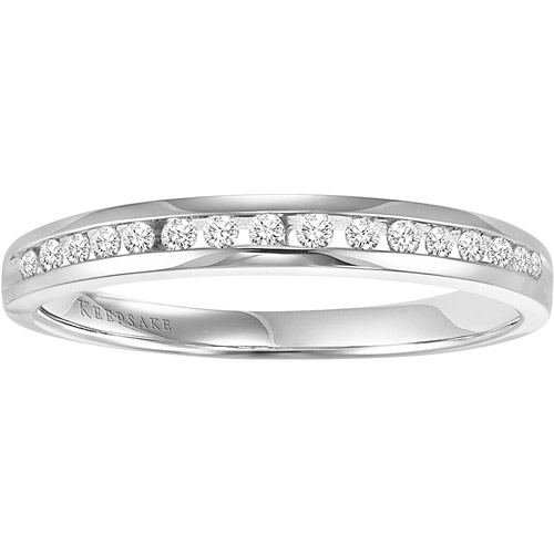 Keepsake Flourish 1/5 Carat T.W. Diamond Anniversary Ring in 10kt White Gold