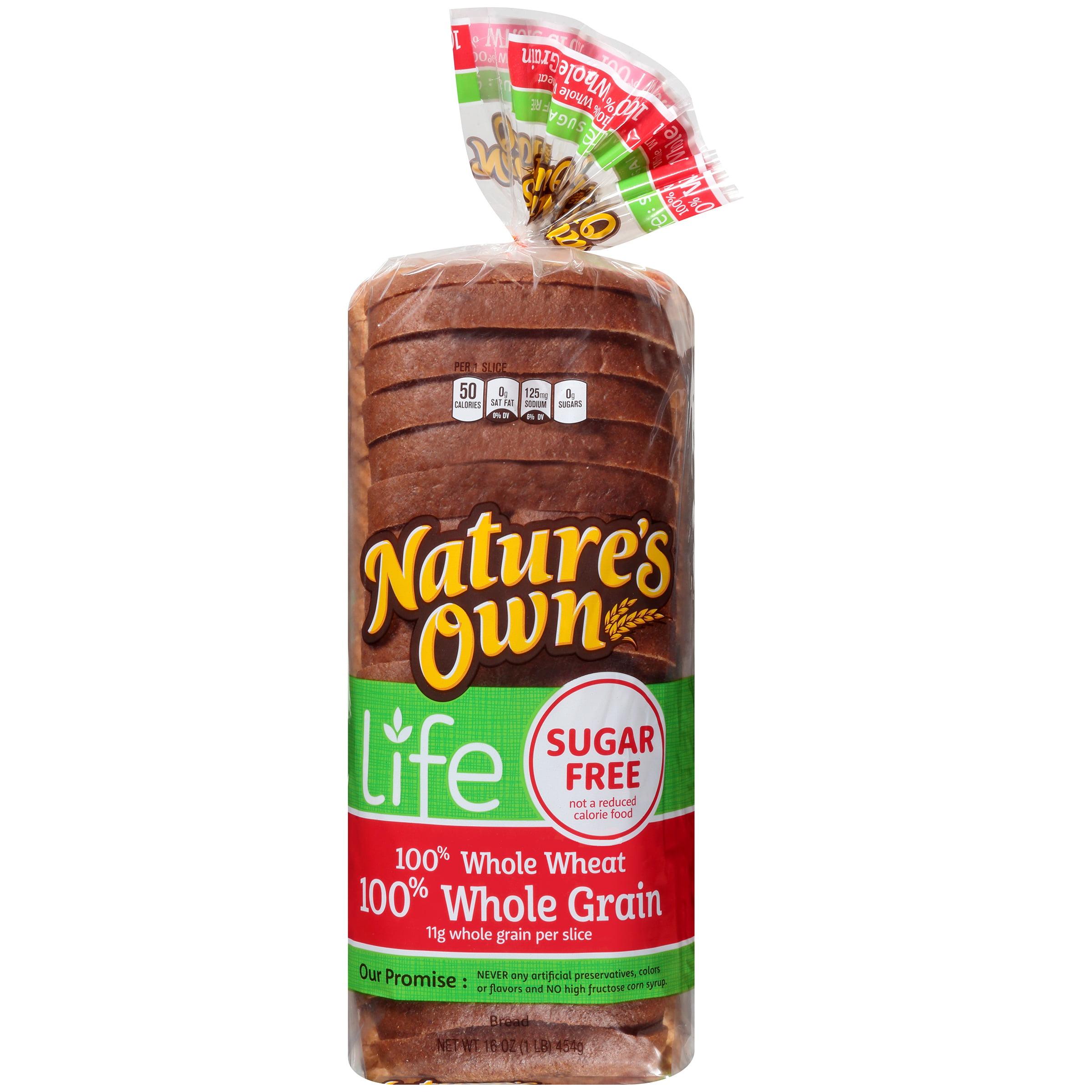 Nature S Own Whole Grain Sugar Free Bread