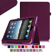Fintie Apple iPad 1st Generation Folio Case - Slim Fit Vegan Leather Stand Cover with Stylus Holder - Purple