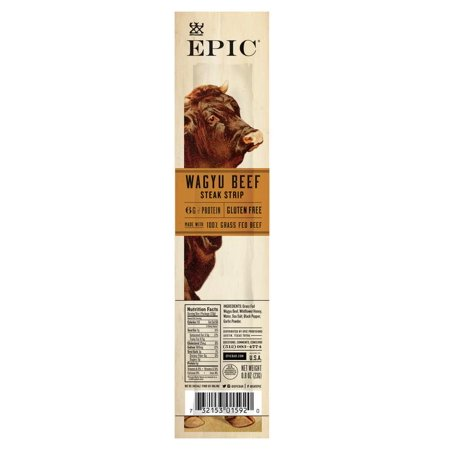 Epic Snack Strips, Wagyu Beef Steak, 0.8 oz. (20 Count)