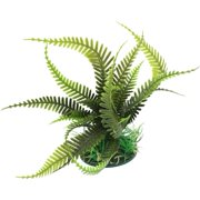 uxcell Artificial Aquarium Plastic Plant Decoration Ornament Olive Green 6.7""