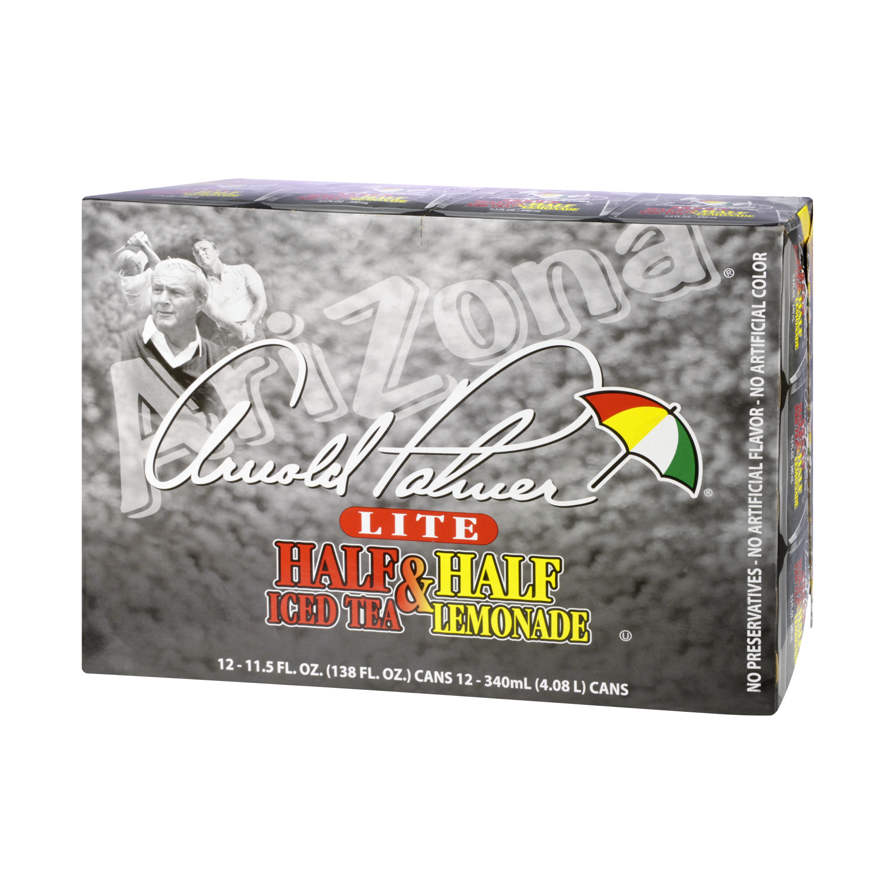 (2 Pack) Arizona Arnold Palmer Half & Half Iced Tea Lemonade, 11.5 Fl Oz (Pack of 12)