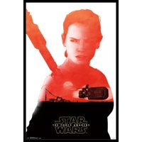 Star Wars The Force Awakens - Rey Badge Poster Poster Print