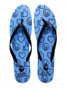 487988b8d Product Image Beaute Fashion Trendy Emoji Hashtag Heart Social Media Flip  Flops Thong Sandal Slipper (X-