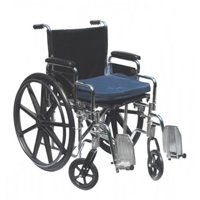 Fabrication Enterprises 50-1360 16 x 18 x 2 in. Gel Wheelchair Cushion with Removable Cover, Navy Color