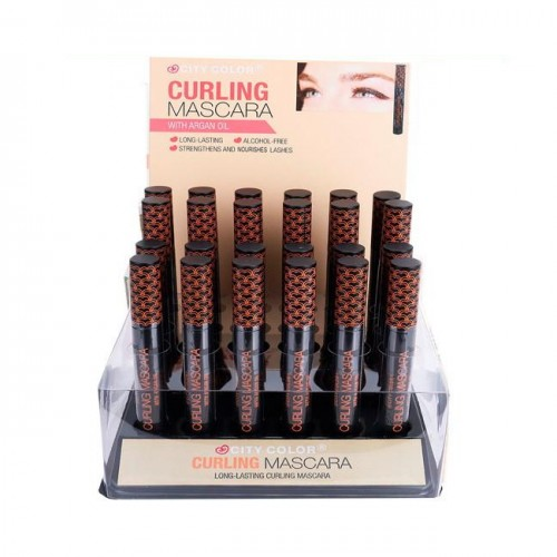 CITY COLOR Curling Mascara with Argan Oil Display Case Set 24 Pieces