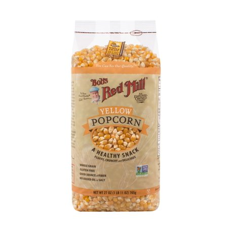 (2 Pack) Bobs Red Mill Corn Popcorn Yellow, 27 Oz - Red Popcorn