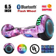 6.5'' Hoverboard Bluetooth Speaker LED  FLASHING WHEELS Scooter UL Listed Galaxy