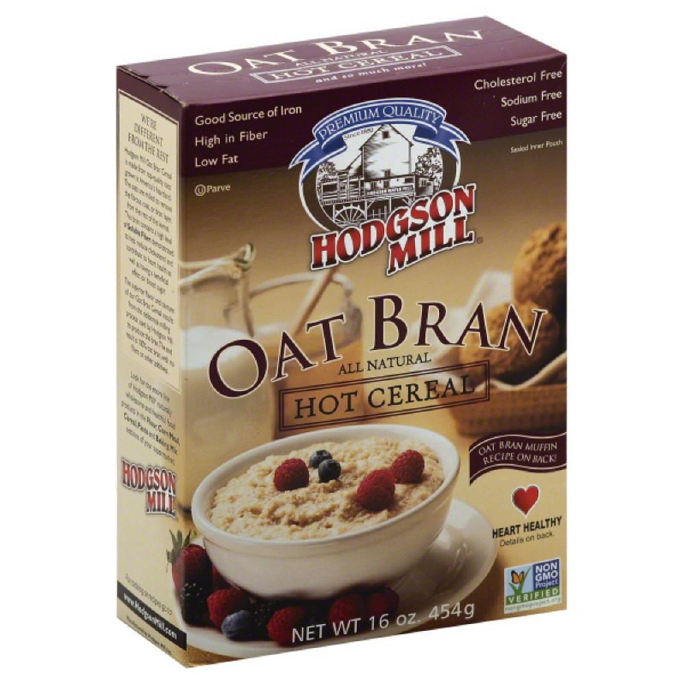 Hodgson mill oat bran all natural hot cereal, 16 oz (pack of 12)