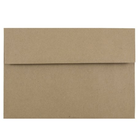 jam paper a8 invitation envelopes 5 1 2 x 8 1 8 brown kraft