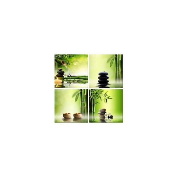 Fresh Green Bamboo Art 5 Pcs Canvas Wall Poster Print Picture Home Decor