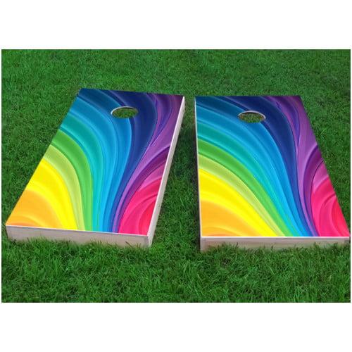Custom Cornhole Boards Rainbow Cornhole Game (Set of 2)