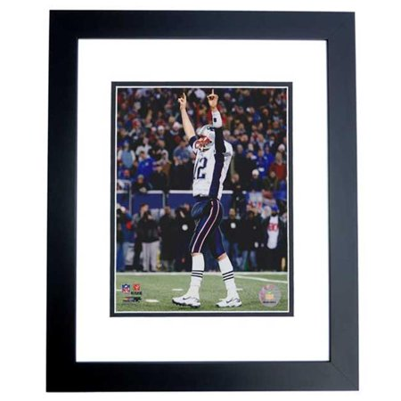 Tom Brady Unsigned New England Patriots 8X10 Inch Photo Black Custom Frame