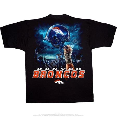 Denver Broncos Men s Sky Helmet Black T-Shirt - Walmart.com e6bc1428e