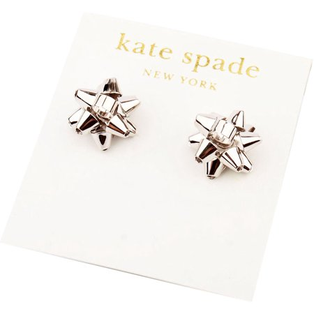 321e24d0c5179 kate spade New York Silver Bourgeois Bow Stud Earrings