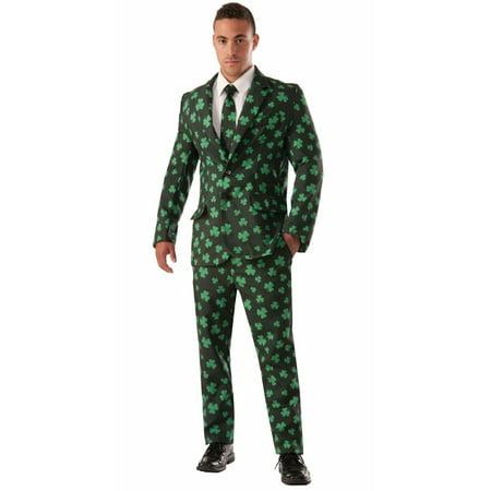 Mens Shamrock Suit & Tie Halloween - Shamrock Suit