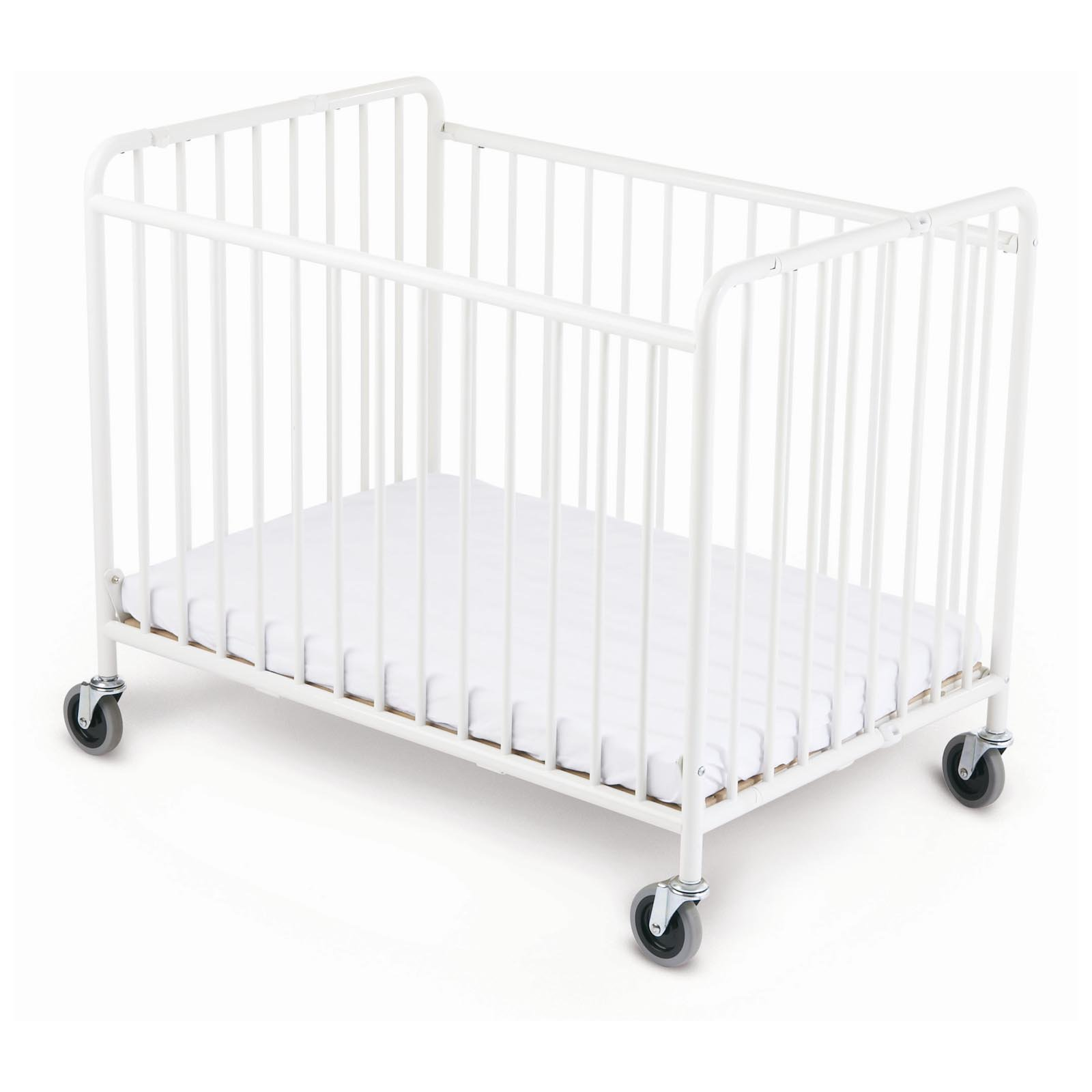Foundations StowAway Folding Compact Size Crib with Mattress