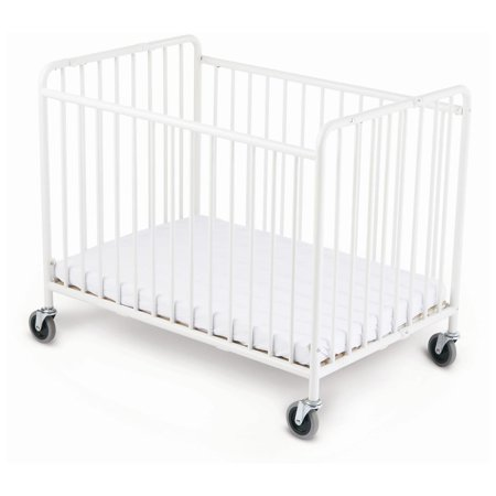 foundations stowaway folding compact size crib with. Black Bedroom Furniture Sets. Home Design Ideas