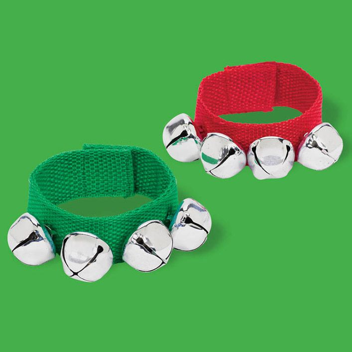 Christmas Fabric Bracelet w/ Bell (Each) - Party Supplies ...