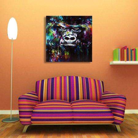 Wall Print Abstract Orangutan Canvas Painting Unframe Home Sticker Art Decor Poster (Poster Canvas Art Painting)
