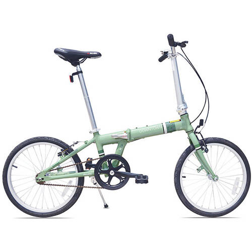 Allen Sports Downtown 1-Speed Folding Bicycle, Green