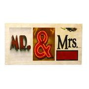 Language Art Wood ''Mr & Mrs'' Letter Block