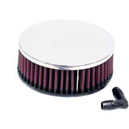 65 Air - K&N RA-062V Universal Clamp-On Air Filter: Round Straight; 2.563 in (65 mm) Flange ID; 2 in (51 mm) Height; 5.5 in (140 mm) Base; 5.5 in (140 mm) Top