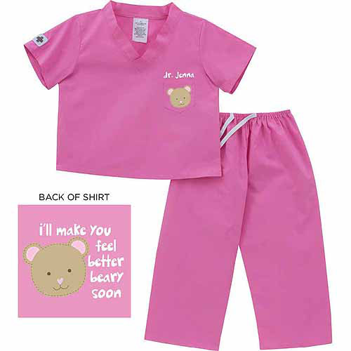 Personalized Bear Scrubs, 6 month to 24 months