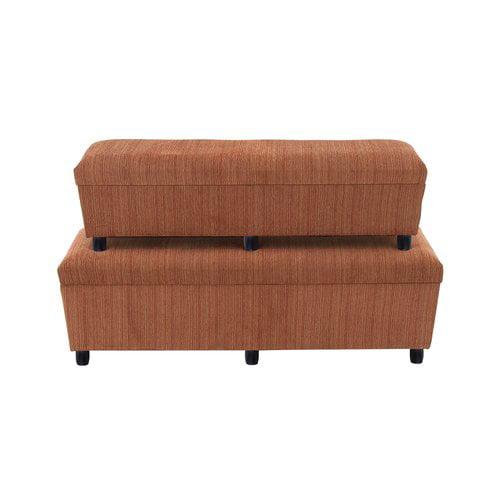 Woodland Imports 2 Piece Wood Storage Bedroom Bench Set by Benzara Inc