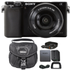 Sony Alpha A6000 Mirrorless Digital Camera Black with 16-50mm Lens and Camera Case This Listing includes:Camera Case