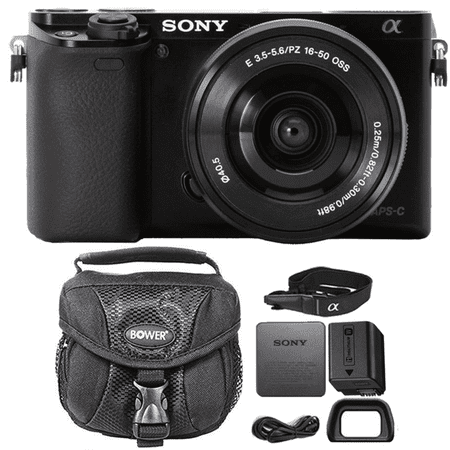 Sony Alpha A6000 Mirrorless Digital Camera Black with 16-50mm Lens and Camera