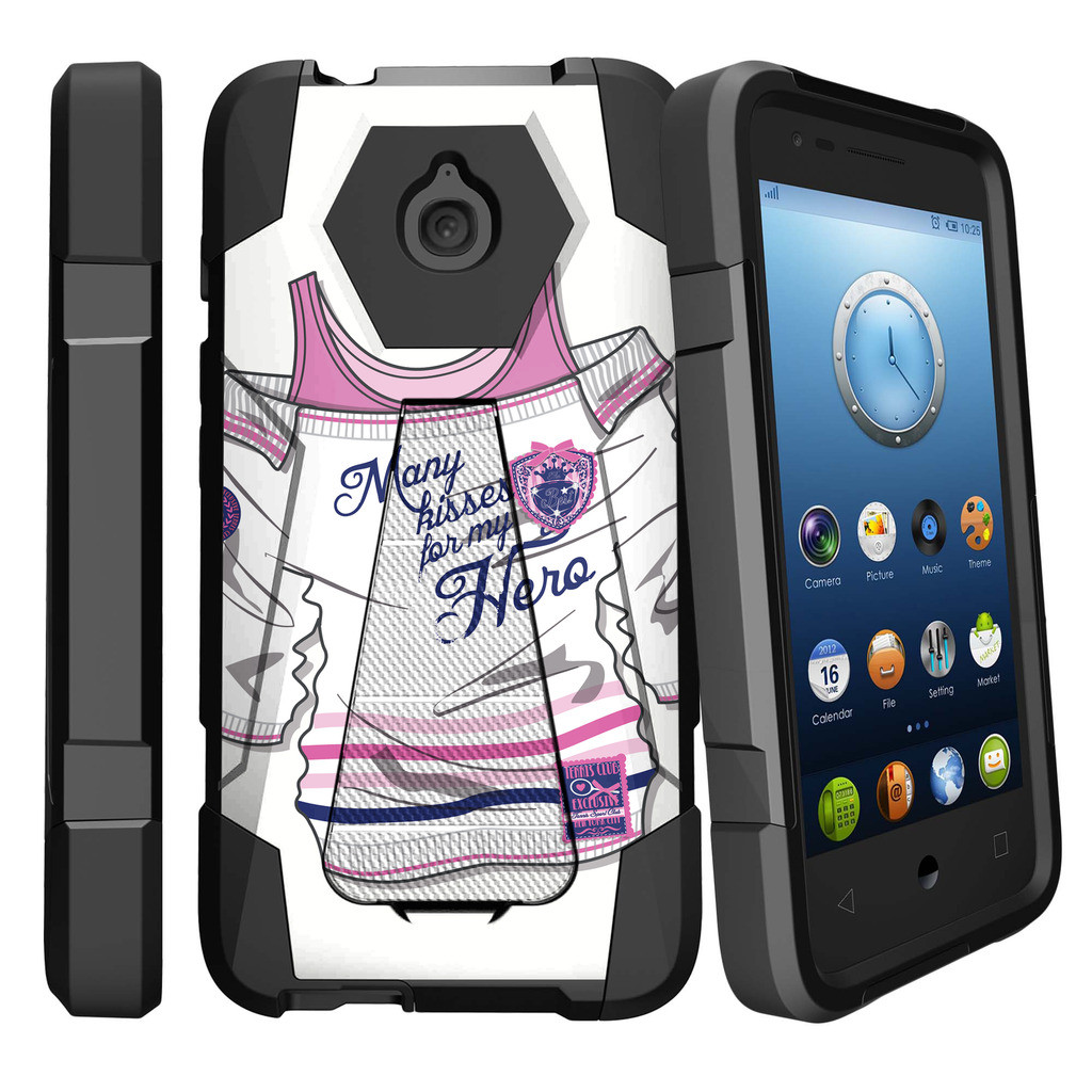 Alcatel Streak, Alcatel Acquire, and Alcatel Dawn Shock Fusion Heavy Duty Dual Layer Kickstand Case -  Lavender Swamp