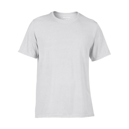 Classic Adult White T-shirt (Classic Fit Mens Small Adult Performance Short Sleeve T-Shirt,)