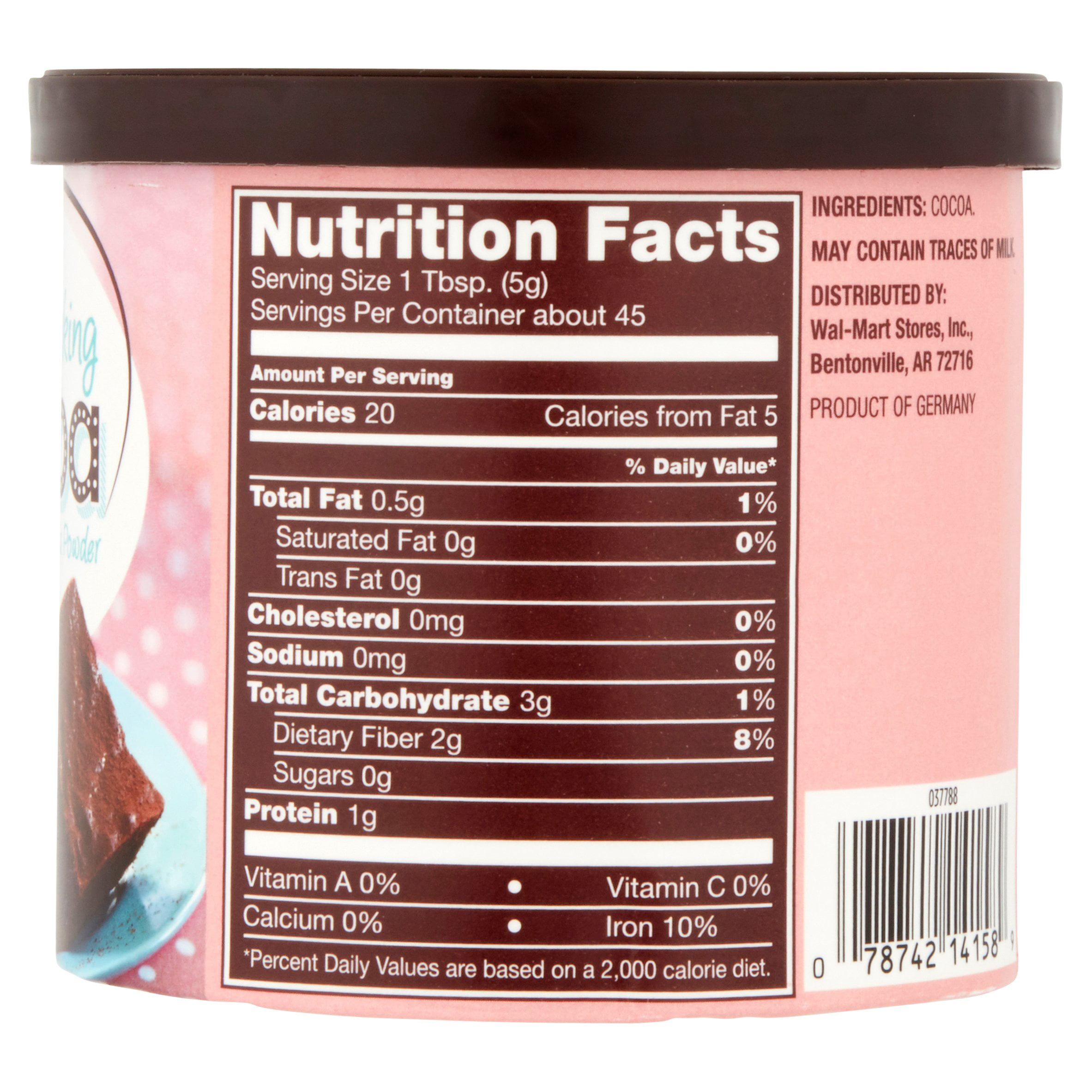 Great Value Cocoa Unsweetened Cocoa Baking Powder 8 Oz