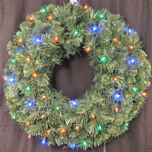 Queens of Christmas Pre-Lit Battery Operated LED Sequoia Wreath