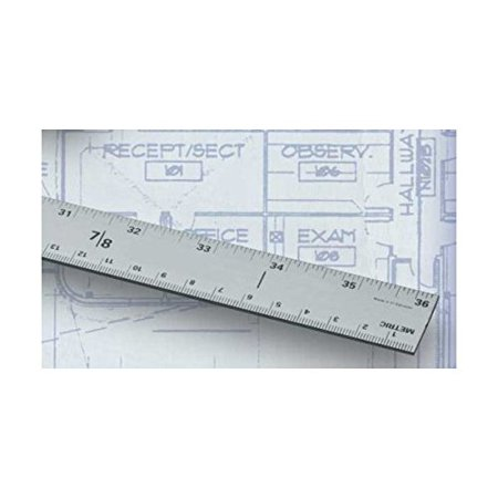 Aluminum Yardstick (36 inches long), End to end calibrations By Alumicolor From USA