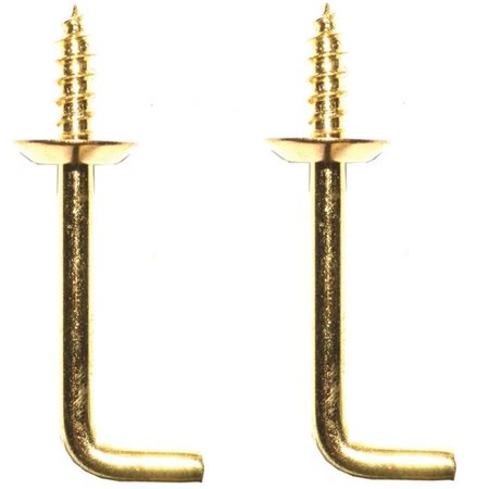 - 1.50 in. Shoulder Hook, Solid Brass