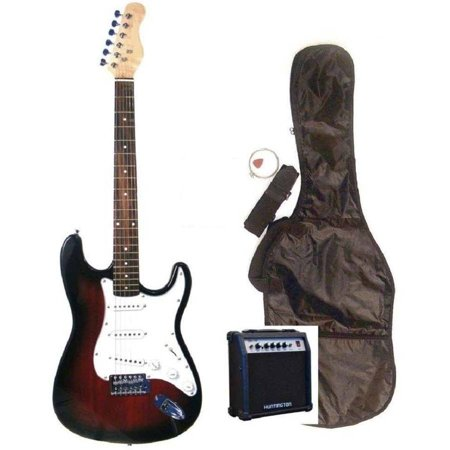 directly cheap full size strat style electric guitar with amplifier gig bag strap and cable. Black Bedroom Furniture Sets. Home Design Ideas
