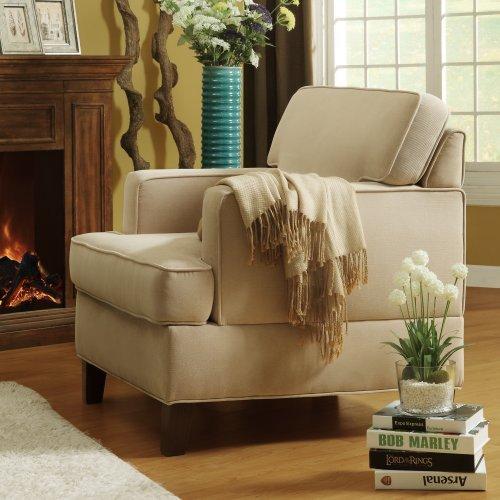 Microfiber Accent Chair, Cream