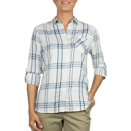 Woolrich Women Lightweight Plaid Shirt Woolrich Womens Flannel