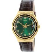 Swatch Men's Irony YGG406 Gold Leather Quartz Fashion Watch